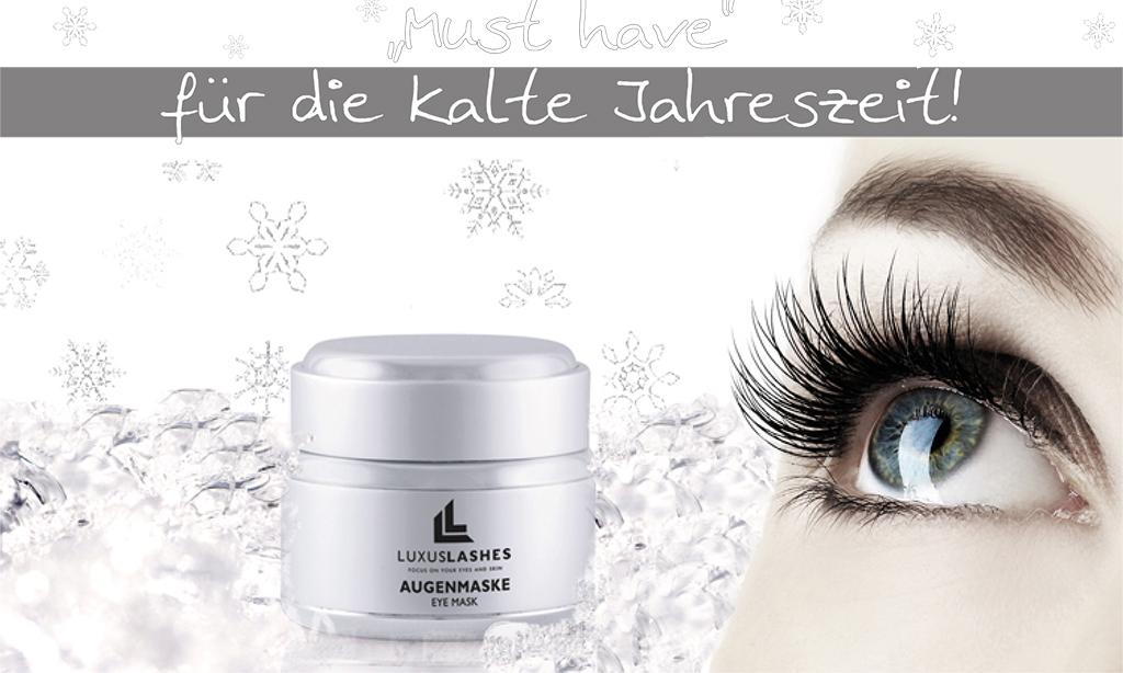 Die Augenmaske von LuxusLashes versorgt die anspruchsvolle Augenpartie mit Feuchtigkeit